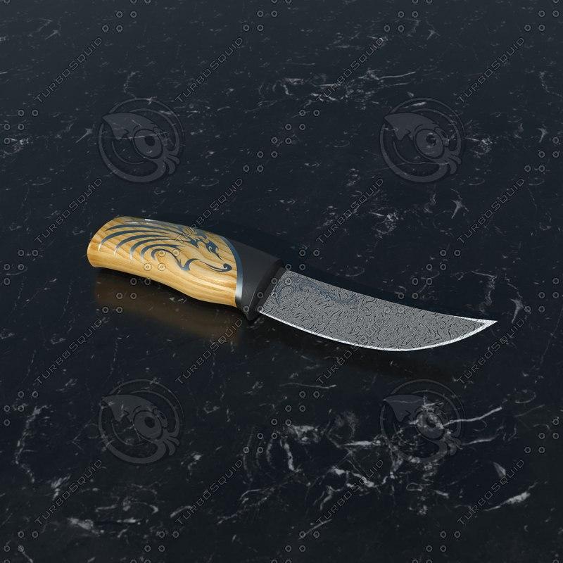 3D knive model