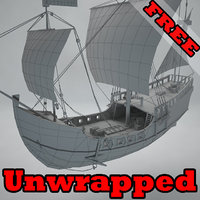 unwrapped ship 3D