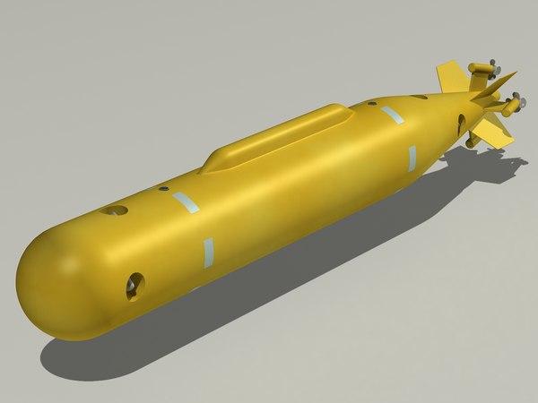 3D poseidon underwater vehicle model