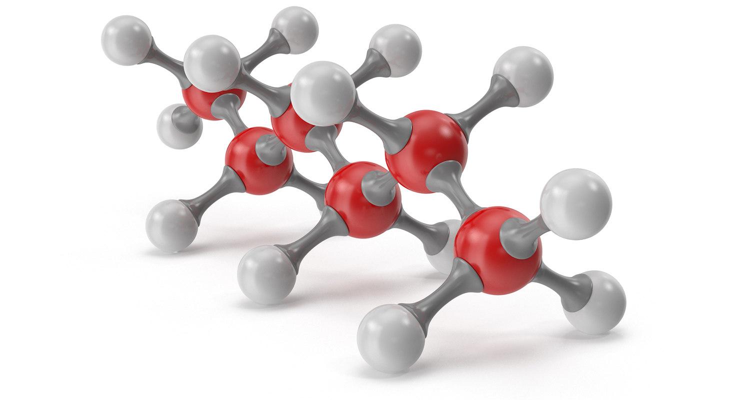 3D hexane molecular