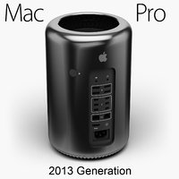 3D apple mac pro 2013