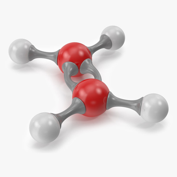 ethylene molecular 3D model