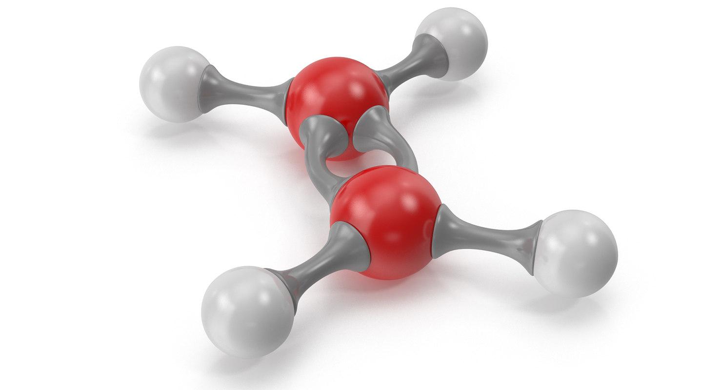 ethylene molecular 3D model