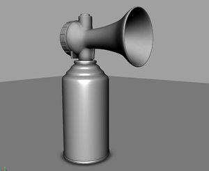 hand air horn 3D model