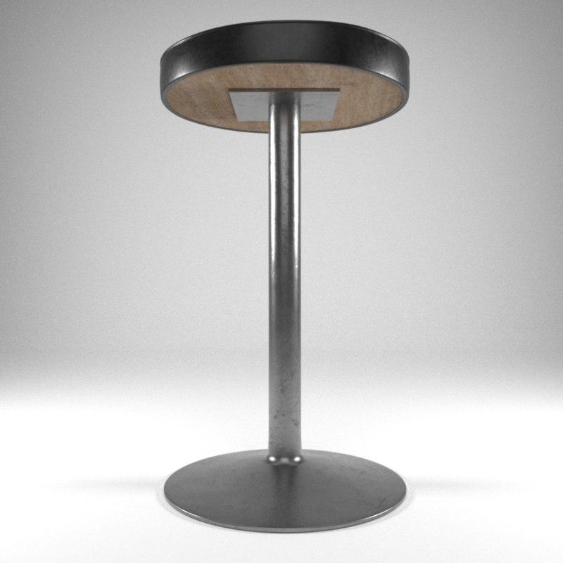 classic bar stool seat 3D