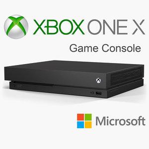 3D microsoft xbox x console