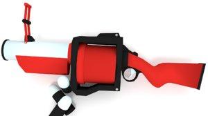 grenade launcher cartoon weapon model