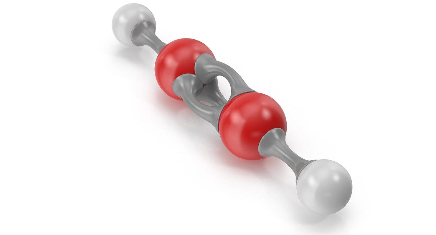 3D acetylene molecular