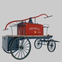 Old fire cart