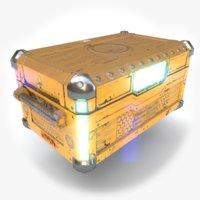 sci fi chest 3D model