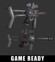 sub-machine gun ready 3D