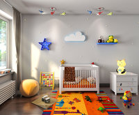 3d Interior kids bedroom