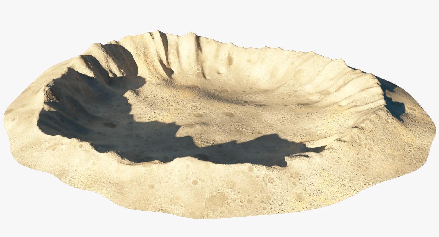 3D moon crater