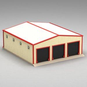 3D garage hangar