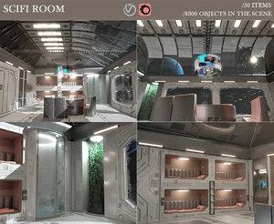 scifi room 3D