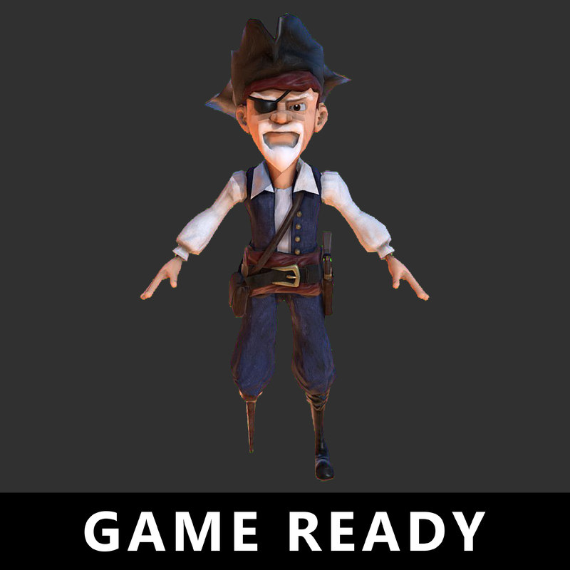 3D pirate character ready