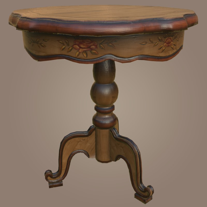 victorian table 3D model