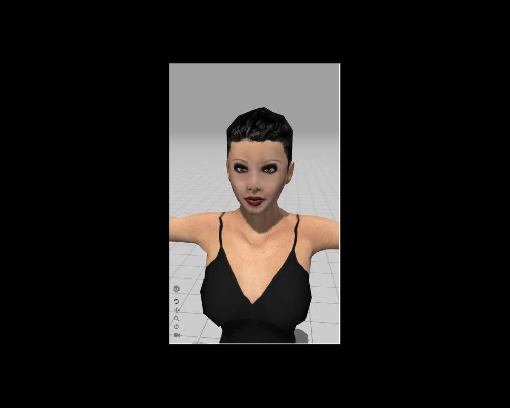 beautiful girl dhaneska 3D