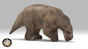 3D lestodon extinct latin model