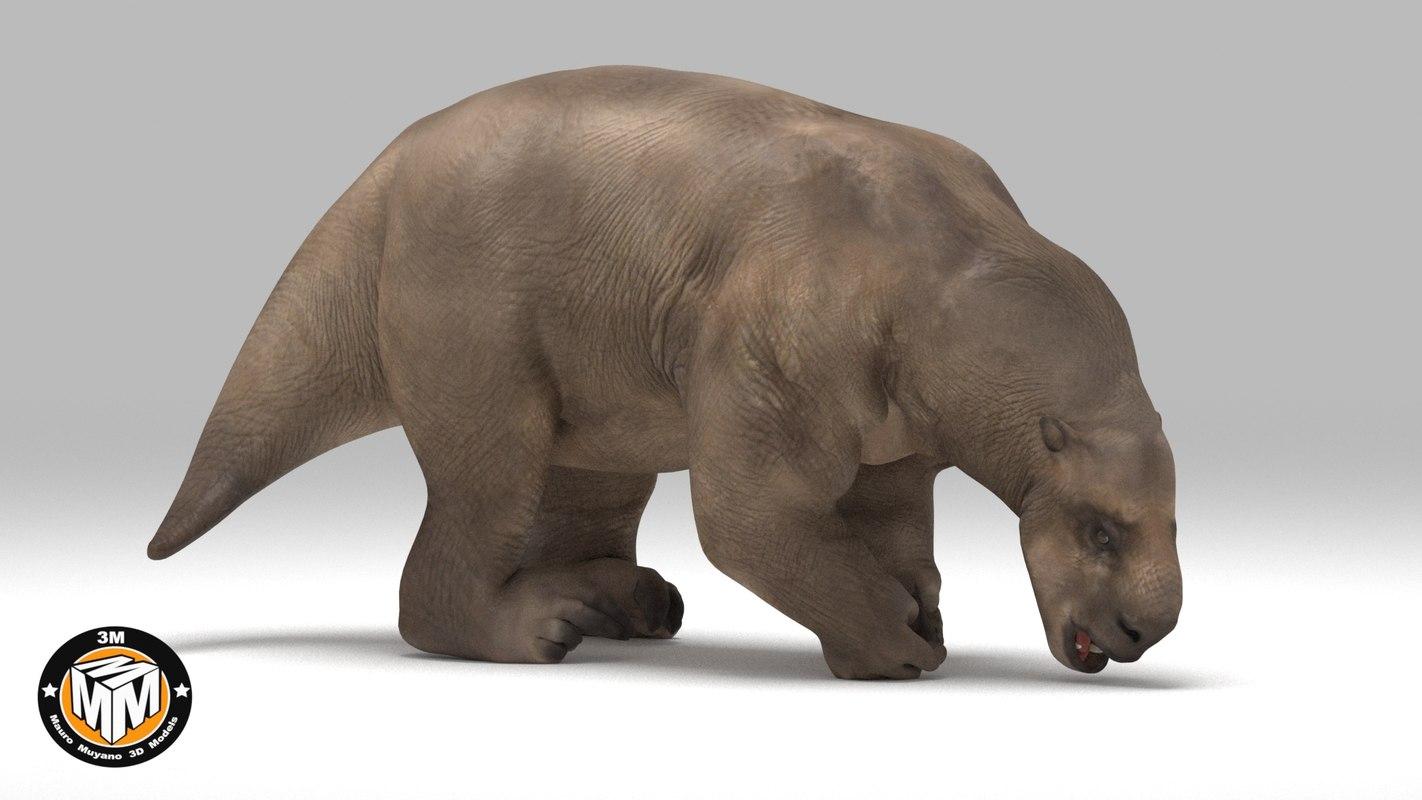 3D lestodon extinct latin model