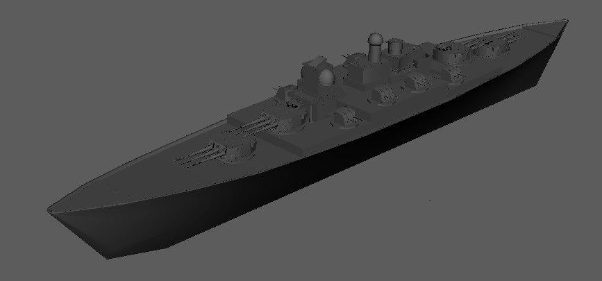 3D battleship