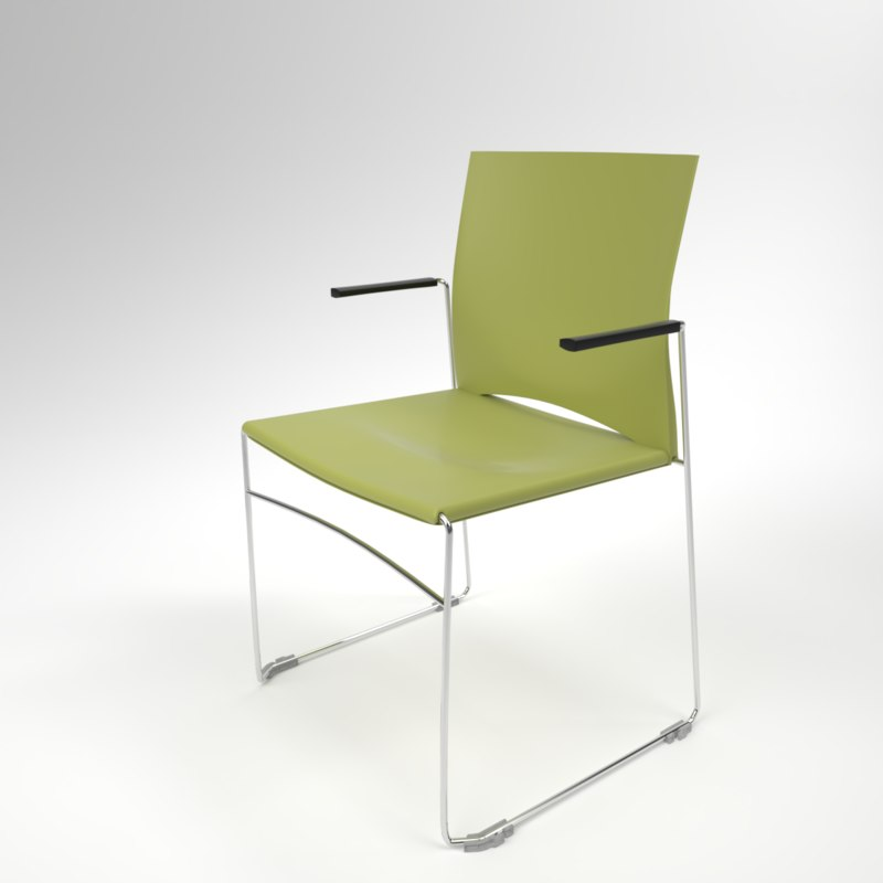 3D interior rim web armchair