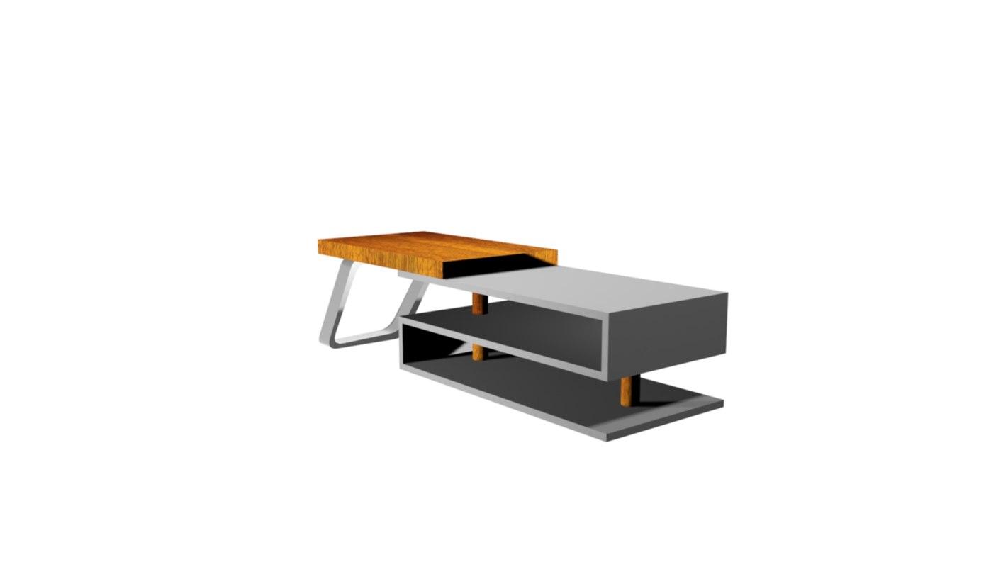 3D model study table