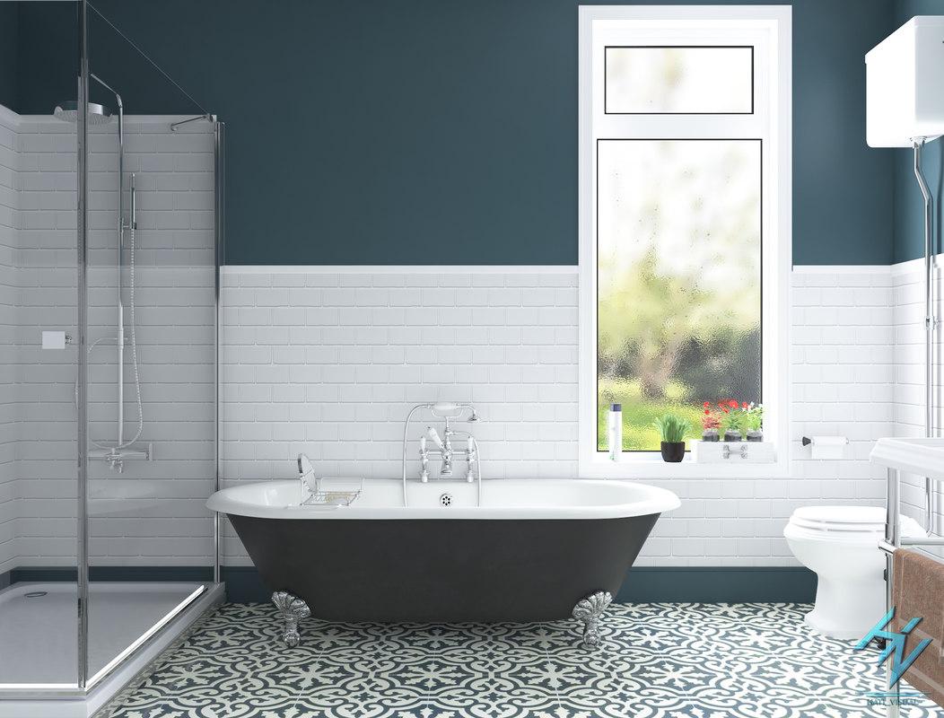 3D bath bathroom