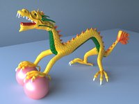 3D chinese dragon creature art