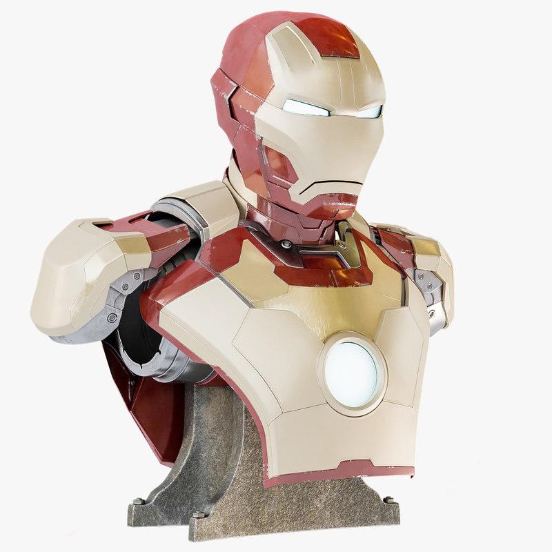 bust iron man mark 3D