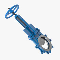 butterfly knife gate valve 3D model