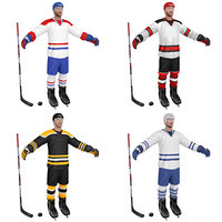 3D model pack hockey player