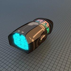 3D scifi star drive
