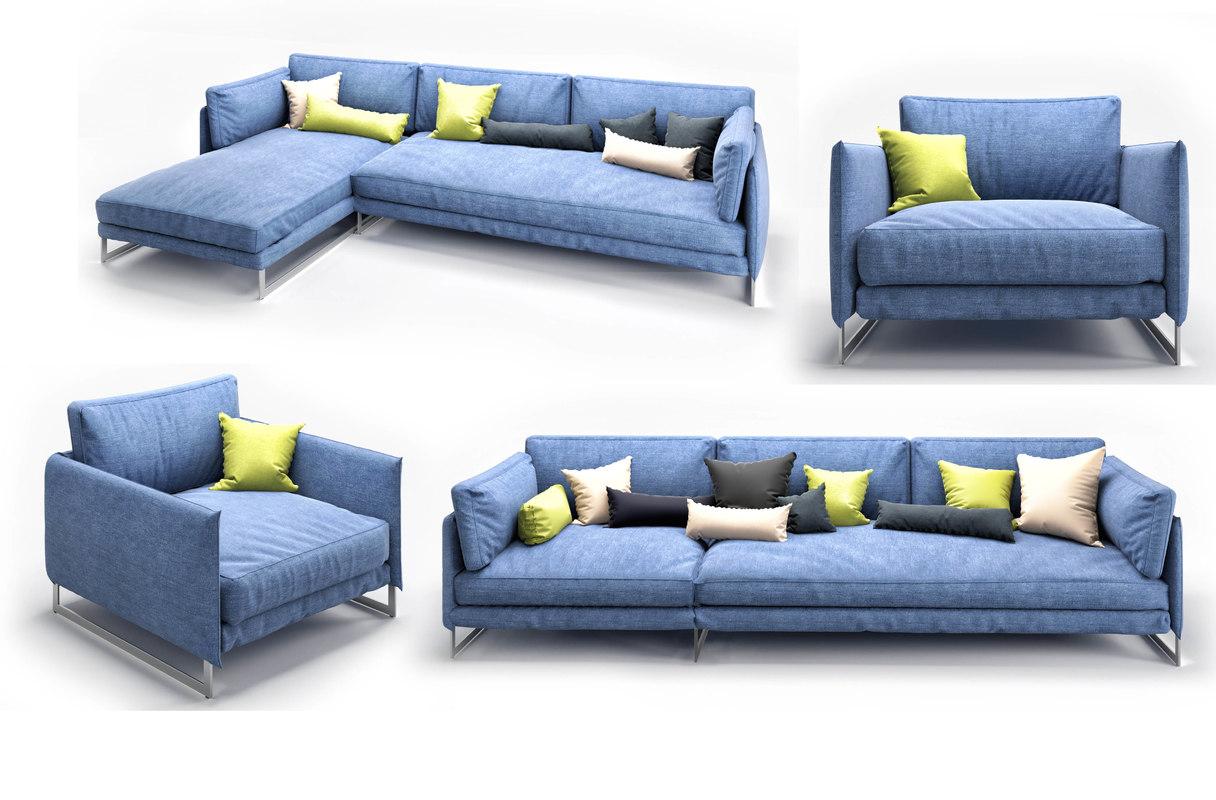 3D model sofa saba livingston