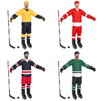 3D pack hockey player model