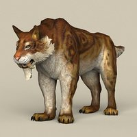 ready sabertooth 3D model