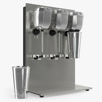 Commercial Triple Spindle Drink Mixer