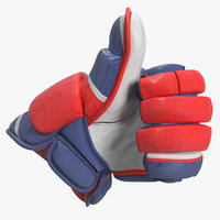 hockey glove thumb sign 3D