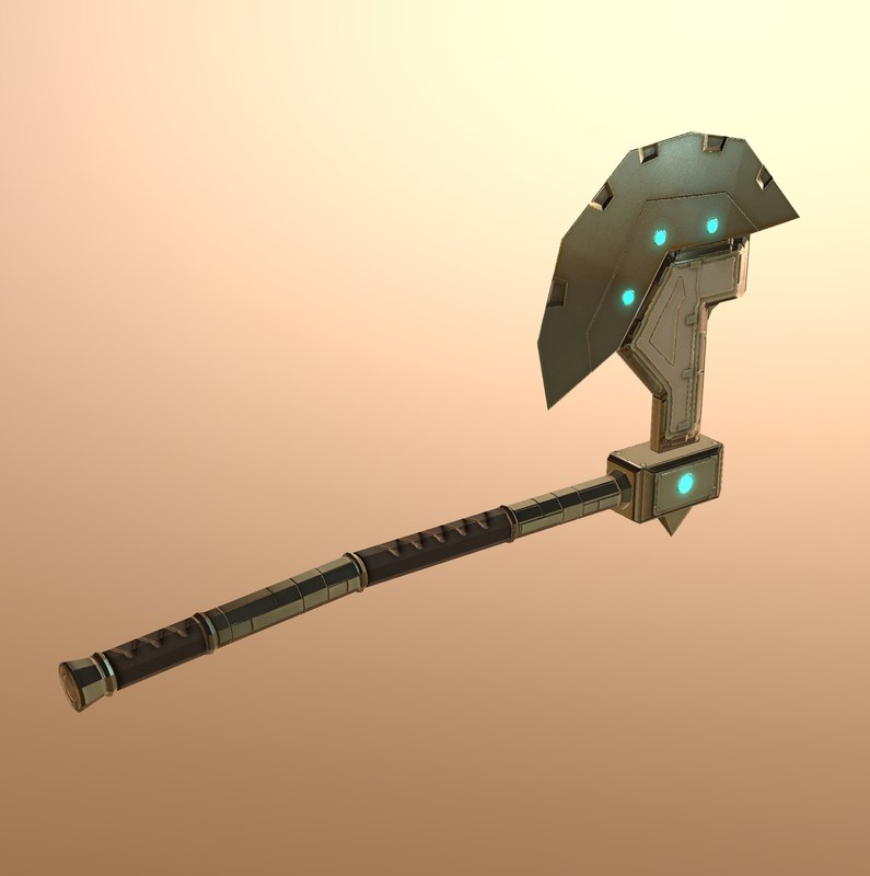 3D sci-fi axe