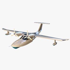 la-8 aircraft aerovolga 3D model