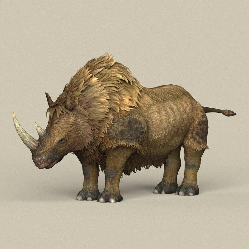 ready ice age rhinoceros model