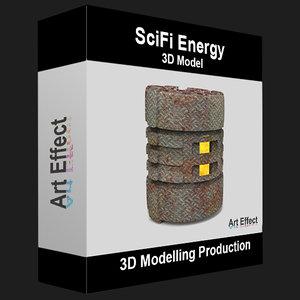 3D scifi sci energy model