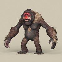 3D ready fantasy orangutan