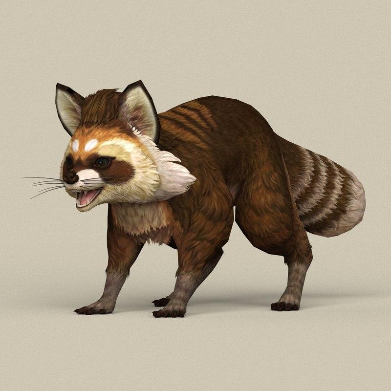 ready raccoon 3D