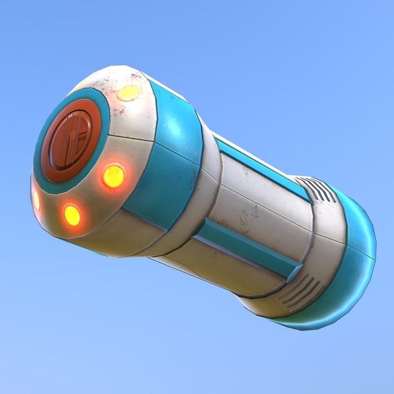 3D sci-fi grenade