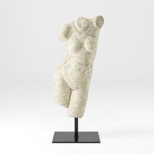 3D model restoration aphrodite sculpture
