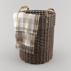 basket pottery barn aster 3D