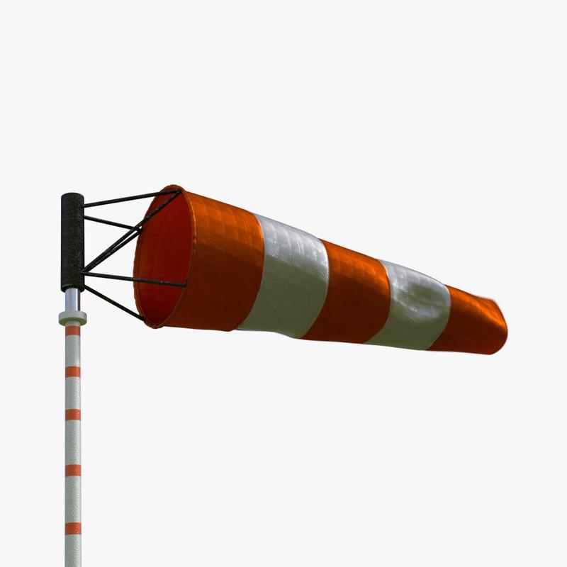 windsock wind sock 3D model