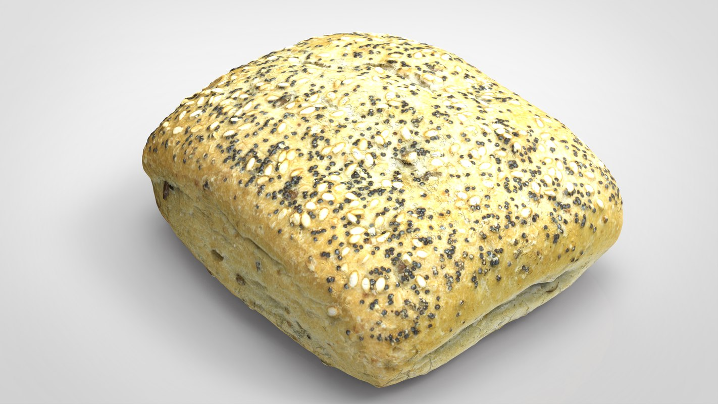 bread cereal 3D model