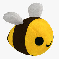 3D stuffed bee toy fur